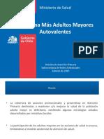 Programa Más Adultos Mayores Autovalentes 2015