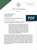 Gov. Sandoval's veto letter for AB374