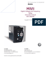 Manual MIVII Voltage-Frequency Relay