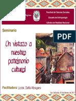 Presentación Seminario- Un Vistazo a Nuestro Patrimonio Cultural-sofiaalbayero