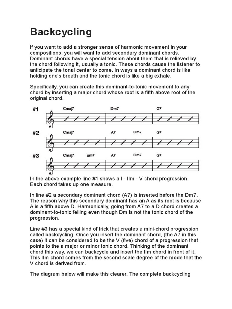 Backcycling music theory chord music musical techniques hexwebz Choice Image