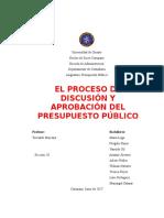 Elproceso de Discusión y Aprobación Del Presupuesto Público Diapositivas