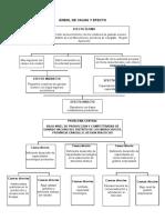Árbol de Causa y Efecto y marco logico