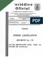 Ley de Proteccion Civil Tlaxcala