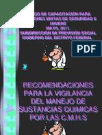 RECOMENDACIONES PARA LA VIGILANCIA DEL MANEJO DE SUSTANCIAS QUÍMICAS_240511.pptx