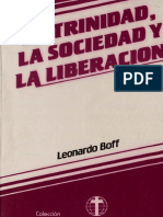 Boff, Leonardo - La Trinidad La Sociedad y La Liberacion