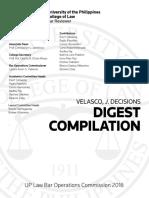 Velasco Digests Compiled