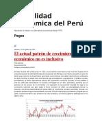 Actualidad Económica Del Perú
