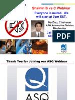 ASQ Auto Shainin B vs C Webinar