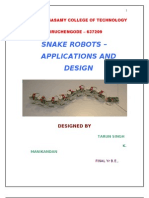 Abstract of Snake Robotics
