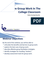 Effective Group Work PPt Presentation