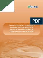 Guía de Identificación, Formulación y Evaluación Social de Proyectos de Rehabilitación y Mejoramiento de Caminos Vecinales, A Nivel de Perfil