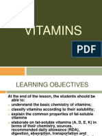 FATS AND WATER SOLUBLE VITAMINS