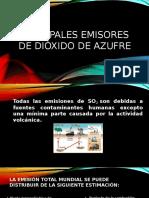Principales Emisores de Dióxido de Azufre
