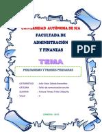 Antecedente de Peruanismo