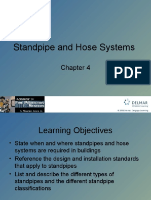 Cha 4 Standpipe and Hose Systems ppt | Fire Sprinkler System | Valve