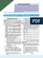 Ibps Po Main Exam (31!10!2015) Solved Paper