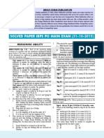 Ibps Po Main Exam (31!10!2015) Solved Paper