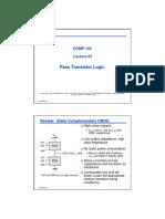 Lecture07(PassTransistorLogic)