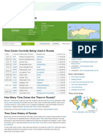Time Zones Russia