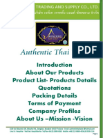 Authentic Thai Taste Profiles and Products Details