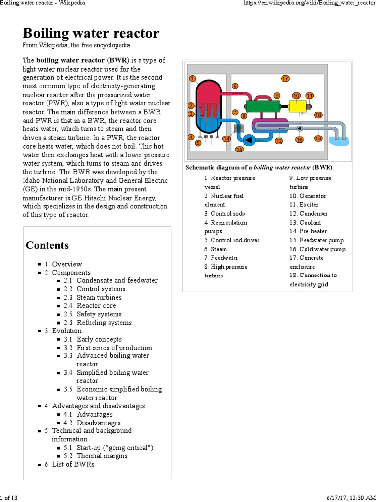 Boiling Water Reactor - Wikipedia   Pressurized Water Reactor   Nuclear  Reactor
