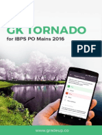 GK Tornado for IBPS PO Mains 2016 Exam