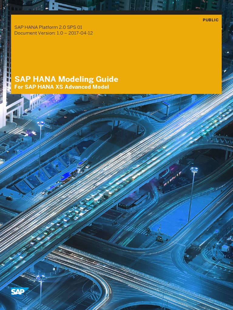 SAP HANA Modeling Guide for SAP HANA XS Advanced Model En