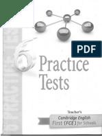 6 Pracrice Test First Fce