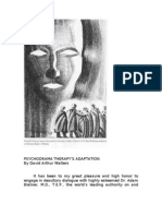 Psychodrama Therapy's Adaptation by David Arthur Walters