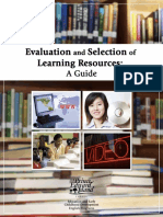 Evaluation and Selection of Learning Resources.pdf