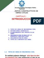 Procesos Constructivos. CAP I - InTRODUCCION