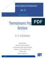 Thermo I Lecture 05 TD Property Relations