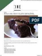 Bolo Chocolate