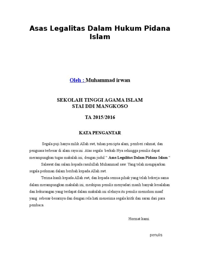 Contoh Azaz Historis : Doc Makalah Dasar Historis Ilmu ...