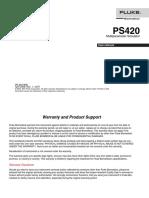 Multiparametr Simulator PS420 Fluke