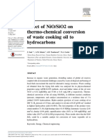 Effect of NiO/SiO2 on thermo-chemical conversion of waste cooking oil to hydrocarbons