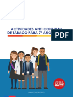 Actividades Anti Consumo de Tabaco 7º