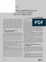 Perspectivas Jurisprudenciales Del Uso de Las NIIF en Asuntos Tributarios