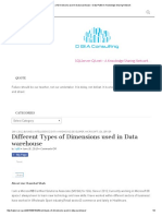 Different Types of Dimensions Used in Data Warehouse – Data Platform Knowledge Sharing Network