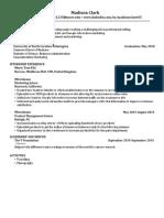 Madison's Resumé pdf