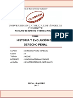 Monografia Historia y Evolución Del Derecho Penal