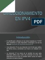 Direccionamiento  introduccion IPv4