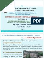 CONTROL DE EROSION EN LOS CAUCES Y  PRACTICAS DE CONSERVACION DE SUELO