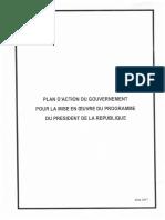 Le plan d'action du nouveau gouvernement Algérien