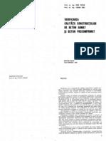 Verificarea Calitatii Constructiilor de B.a.