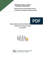 raport incluziune sociala