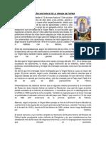 Reseña Historica de La Virgen de Fatima