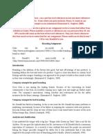 Branding Assignmen 13-07-2010. Re Correction