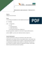 Aula Pratica 2 - Condução de Calor Unidimensional - Verificação Da Lei de Fourier